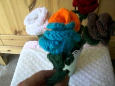 Knitted roses (knitting flower)