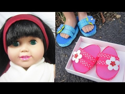 Make flipflops for your 18 inch dolls like American Girl - Doll Crafts