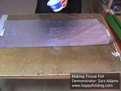 Making Tissue Foil (Origami Paper)