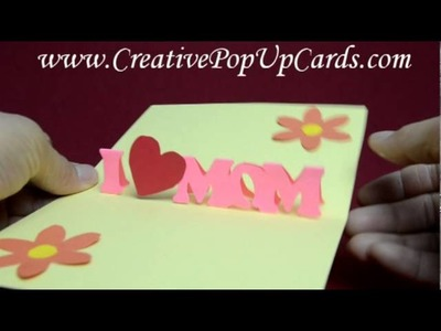 Mother's Day Pop Up Card: Simple version