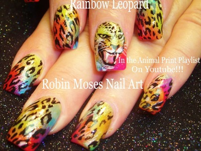 Nail Art Tutorial | DIY Leopard design Nails | Rainbow Animal Print with Face