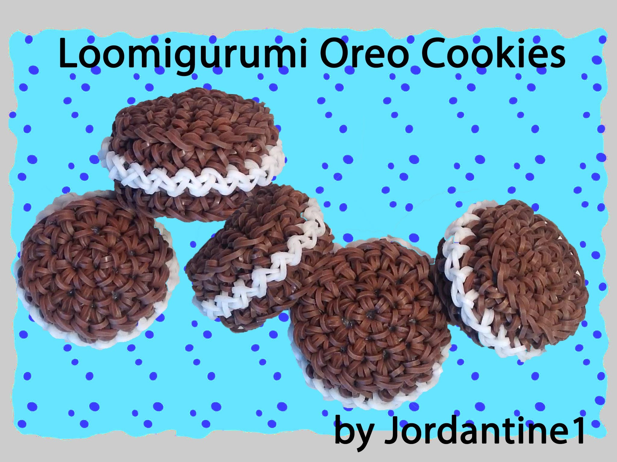 New Loomigurumi. Amigurumi Oreo Cookie - Rubber Band Crochet - Rainbow Loom - Hook Only