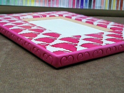 Picture frame craft, polymer clay cane [pixel heart]