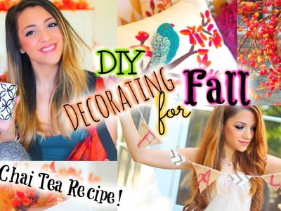 Quick & Easy DIY Fall Decor  & Iced Chai Tea Latte Recipe!