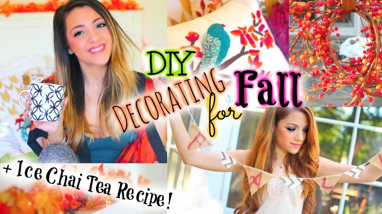 Quick & Easy DIY Fall Decor  & Iced Chai Tea Latte Recipe!