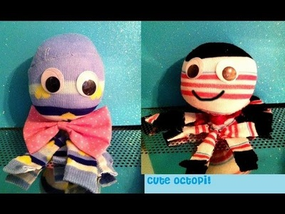 QUICK and Easy Sock Octopus! Fun kids Craft! Simple & Easy Sock Crafts