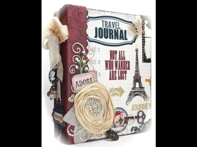 Scrapbook Mini Album with Theresa Collins Travel Documented Paper