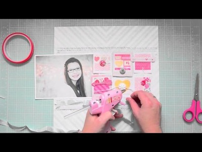 Scrapbooking Tutorial: Dear Lizzy layering with ribbon with WIlna Furstenberg