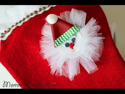 """Simple"" Santa hair clip tutorial HOW TO (Hairbow DIY)"