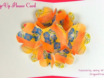 Summer Crafts - Step-by-Step EASY FLOWER POP UP CARD - Paper Crafts - Paper Flowers
