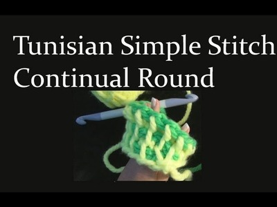 Tunisian Simple Stitch Crochet in the Round Crochet Geek