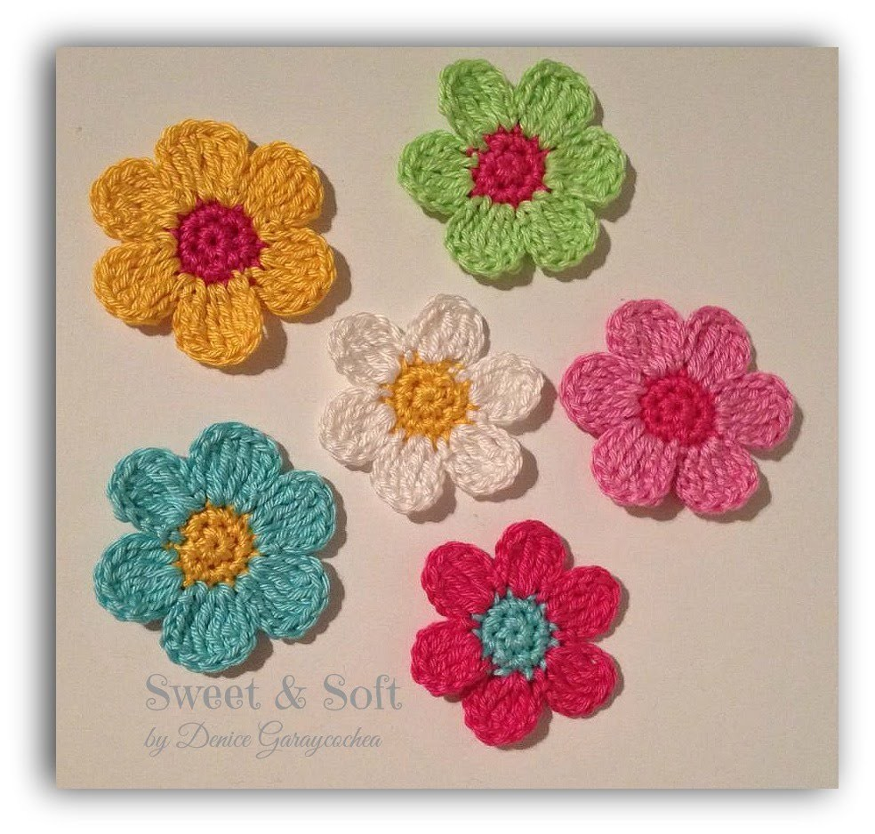 TUTORIAL FLOR A CROCHET II, My Crafts and DIY Projects