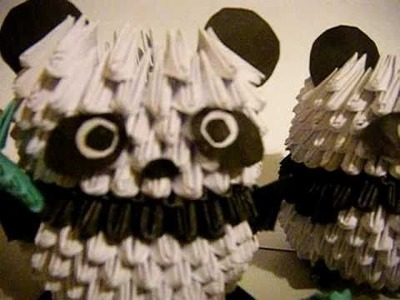 Two Pandas 3D Origami Hand made
