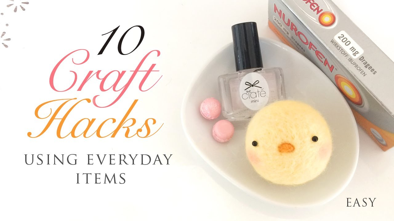 10 Craft Hacks Using Everyday Items!
