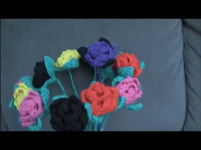 Attach A Stem To A Crochet Flower