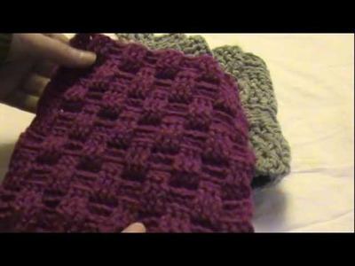Basketweave Fingerless Gloves