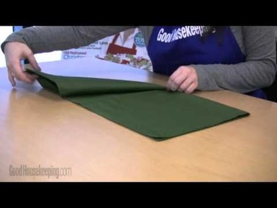 Craft Idea: Fold a Cloth Napkin into an Elf Hat