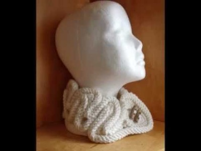 Crochet&knit twisted neckwarmer