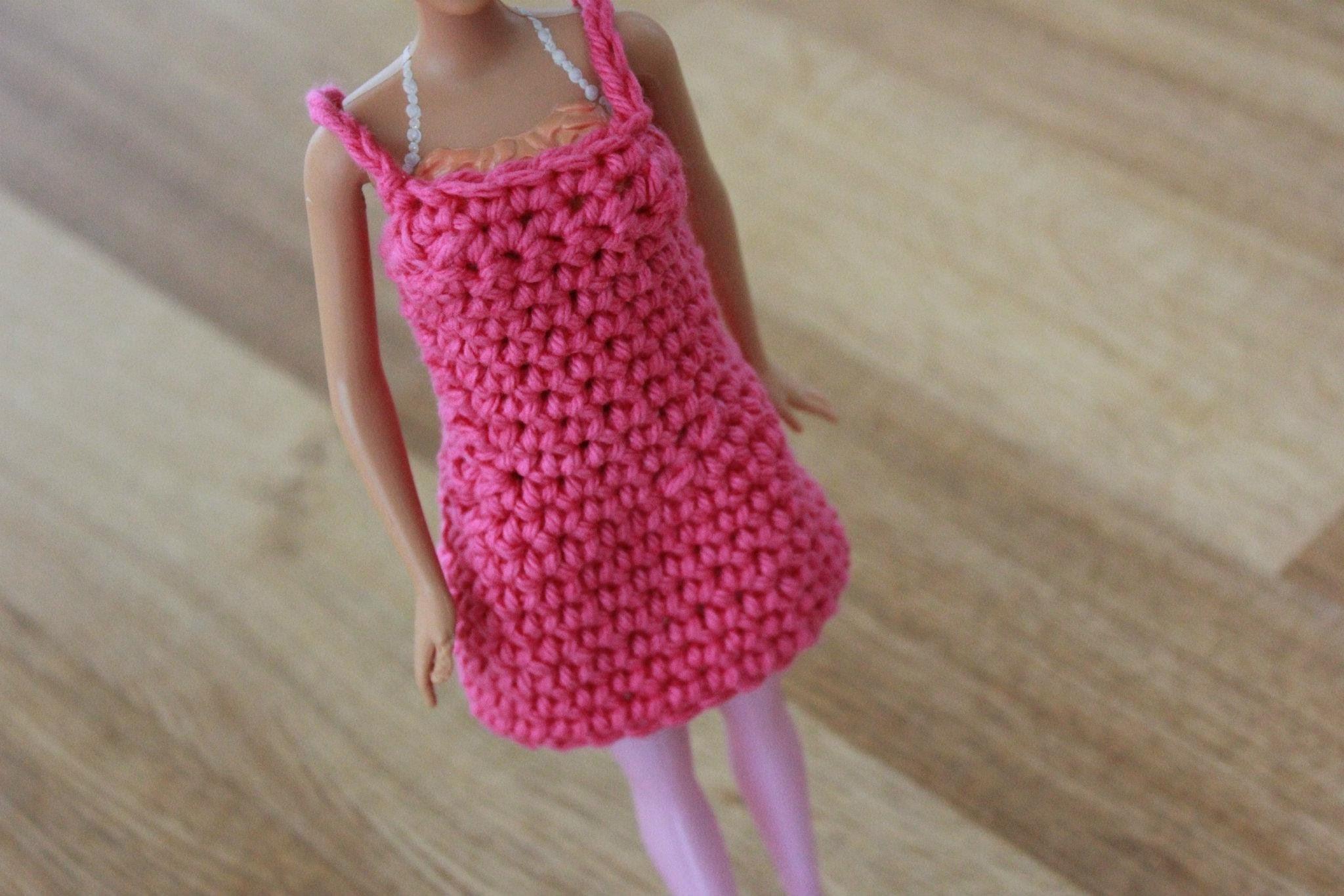 Crochet Barbie Dress Tutorial Pattern - Right Handed