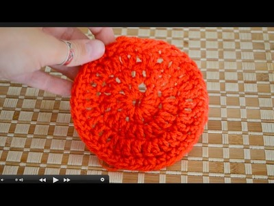 Crochet coaster tutorial - easy
