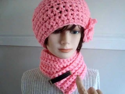 CROCHET HAT AND SCARF SET, link to SweetPotatoPatterns