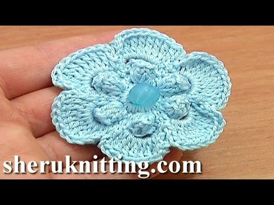 Crochet Popcorn Stitch 6-Petal Flower Tutorial 67 Easy Flower to Crochet