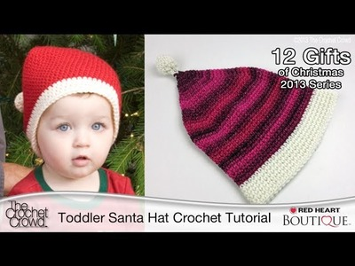 Crochet Toddler Santa Hat