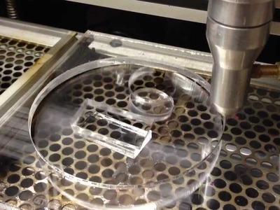 Cutting acrylic with a 60w DIY CNC laser cutter