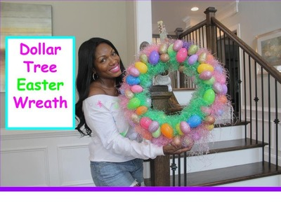 DIY Dollar Tree Easter Wreath 2015 #pinspired
