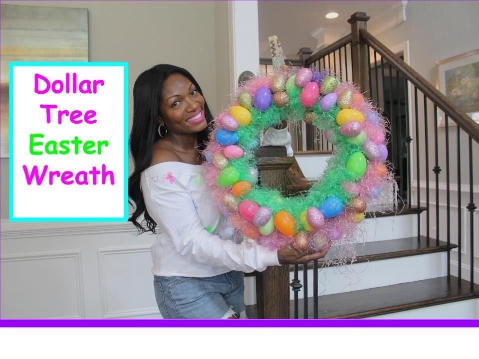 DIY Dollar Tree Easter Wreath 2015 #pinspired