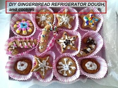 DIY GINGERBREAD DOUGH (vegan) AND COOKIES, Refrigerator dough to have on hand for baking