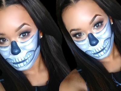 DIY Half Sugar Skull Halloween Makeup Tutorial + Outfit Ideas (Last Minute Costume Ideas)