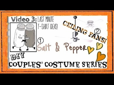 DIY Halloween Costume Ideas For Couples! Part 3: Last Minute Easy T-Shirt Costumes!