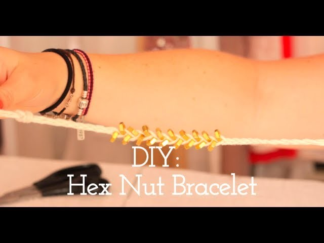 DIY - Hex Nut Bracelet