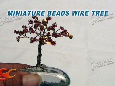 DIY How to make Miniature Beads wire tree - JK Arts 133