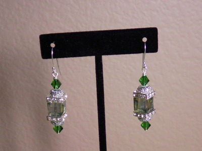 DIY~Stunning Emerald Lantern Christmas Earrings!