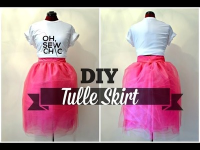 DIY Tulle Skirt with Hidden Zipper (NO PATTERN)