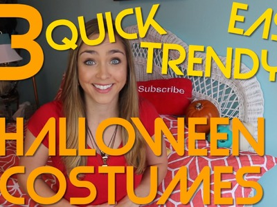 EASY & TRENDY DIY LAST-MINUTE HALLOWEEN COSTUMES