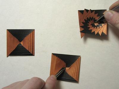 First Origami Fold in 2014: Single Strip Square Curlicue (Assia Brill)
