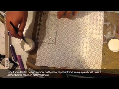 Gesso and Paper Crafter Crayon Technique-Faber-Castell Design Memory Craft Guest Artist