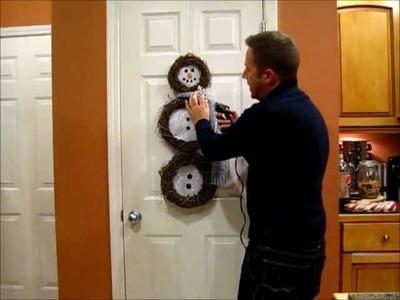 Grapevine Snowman Wreath - DIY