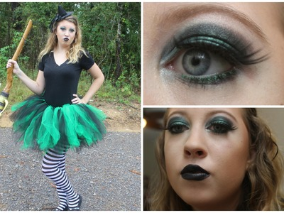 Halloween with Hannah!- Wicked Witch Costume & Makeup! +DIY Tutu!