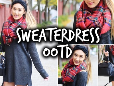 How I Style a SweaterDress. Fall OOTD!