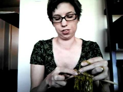 How to Bind Off &Weave in Ends on a Drop Stitch Scarf