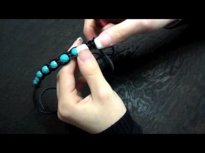 How to make Adjustable Beaded Bracelet.