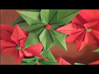 How to make an Origami Christmas Wreath