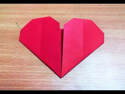 How to make an origami heart step by step.