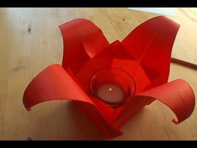 How To Make an Origami Tulip Lamp - Falte Dir Deine Origami Tulpenlampe!