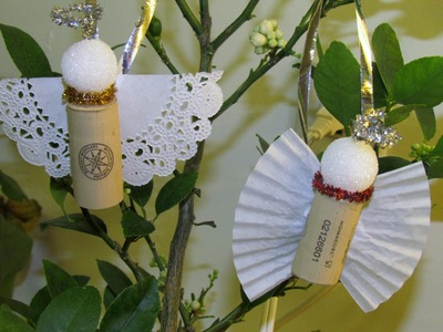 How to make Cork Angel Ornament DIY Ornament Craft #8