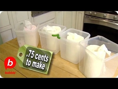 How to Make Homemade Baby & Cleaning Wipes | The Live Well Network | Babble